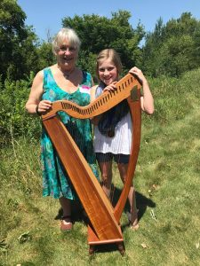 Georganne and Evy at the Minnesota Scottish Harp Weekend